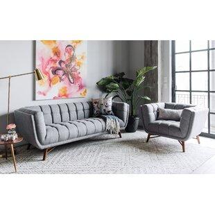 George Oliver Wolken Mid-Century Modern 2 Piece Living Room Set