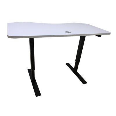Crank Standing Desk Ergomax Office Finish: White