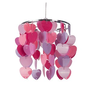 Non-Electric Heart 22cm Acrylic Novelty Pendant Shade by First Choice Lighting