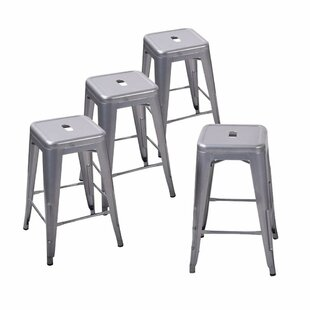 Bedell 24 Patio Bar Stool (Set of 4) by Williston Forge