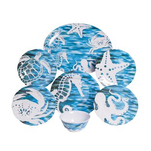 Whitson Melamine 19 Piece Dinnerware Set, Service for 6