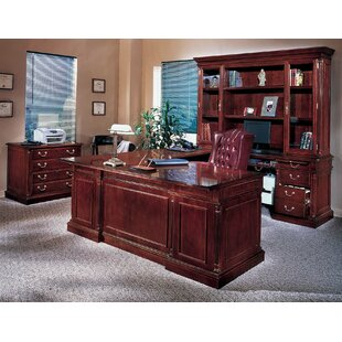 Three Posts Flannagan 3-Piece U-Shape Desk Office Suite