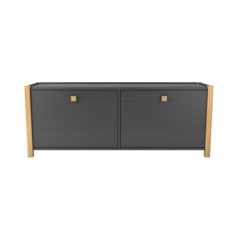 Ebern Designs Sitzbank Dunkin Aus Holz Mit Stauraum