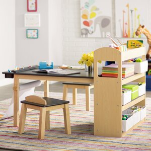 Emilio Kids Rectangular Arts and Crafts Table With Stools