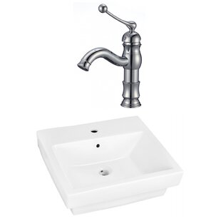 Compare & Buy Ceramic Rectangular Bathroom Sink with Faucet and Overflow ByAmerican Imaginations