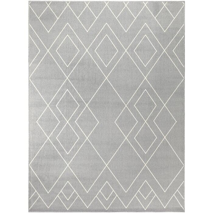 Union Rustic Easton Geometric Gray Area Rug Wayfair