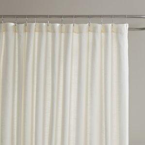 beige and white shower curtain. Amanda Shower Curtain Ivory  Cream Ruffled Curtains You ll Love Wayfair