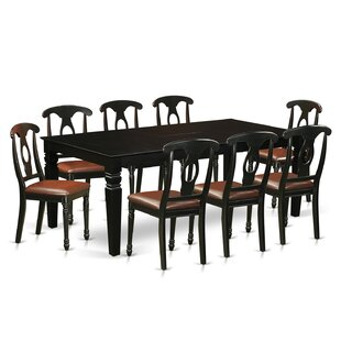 Darby Home Co Beesley 9 Piece Hardwood Dining Set