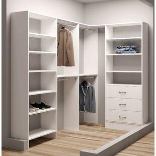 Affordable Demure Design 59.5W - 99W Closet System ByTidySquares Inc.