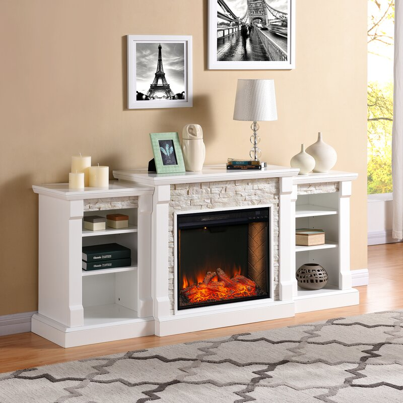 Thierry Bookcase Smart Fireplace