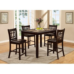 Stubbs 5 Piece Pub Table Set Alcott Hill