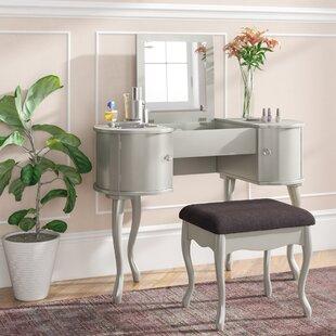 Willa Arlo Interiors Rimmer Vanity Set with Mirror