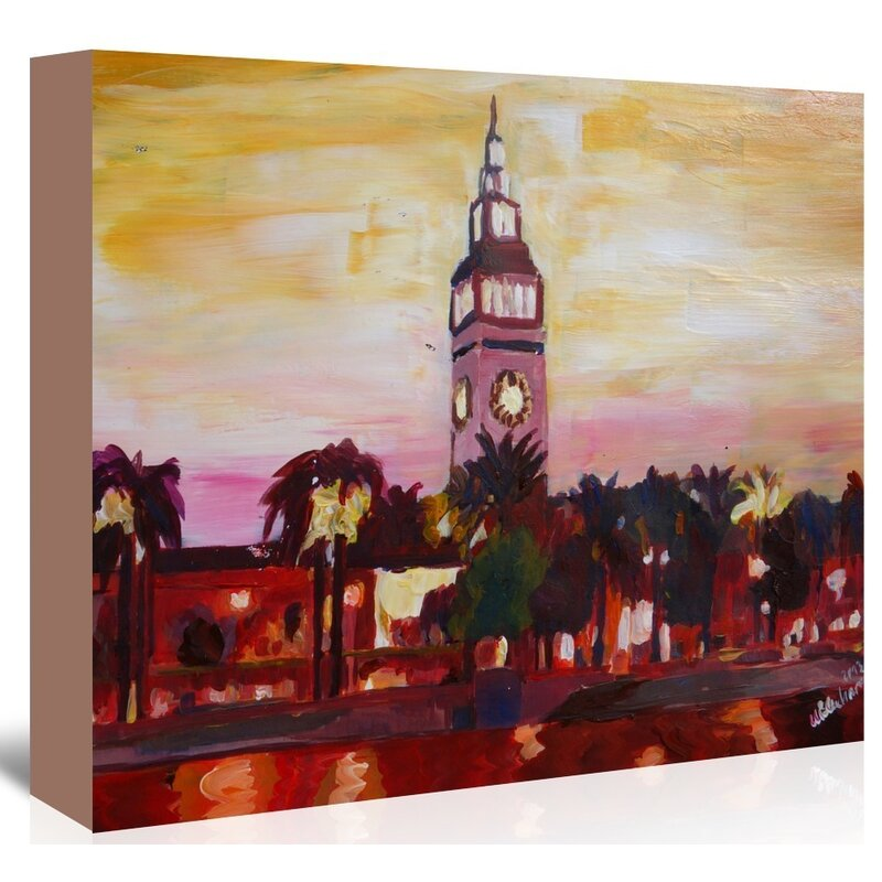 East Urban Home San Francisco Ferry Plaza Building Painting On Wrapped Canvas Wayfair