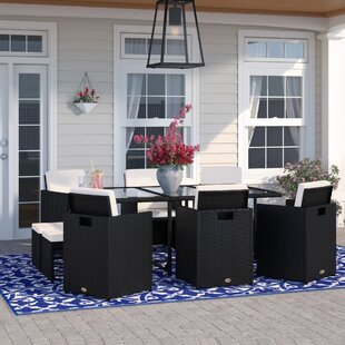 Valeria 10 Seater Dining Set With Cushions By Wade Logan