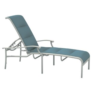 Sorrento Padded Sling Reclining Chaise Lounge