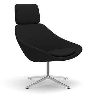 Open Swivel Lounge Chair with Headrest on 4 Star Base