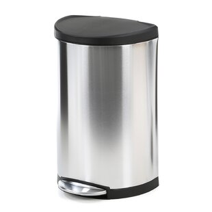 Stainless Steel 10.5 Gallon Step On Trash Can