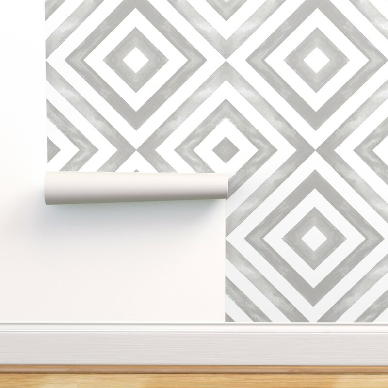 Wrought Studio Cory Geometric Removable Peel And Stick Wallpaper Roll Wayfair