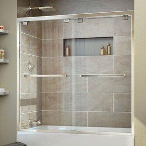Encore 60  x 58  Bypass Single Sliding Tub DoorShower   Bathtub Doors You ll Love   Wayfair. Tub Shower Combo Glass Doors. Home Design Ideas