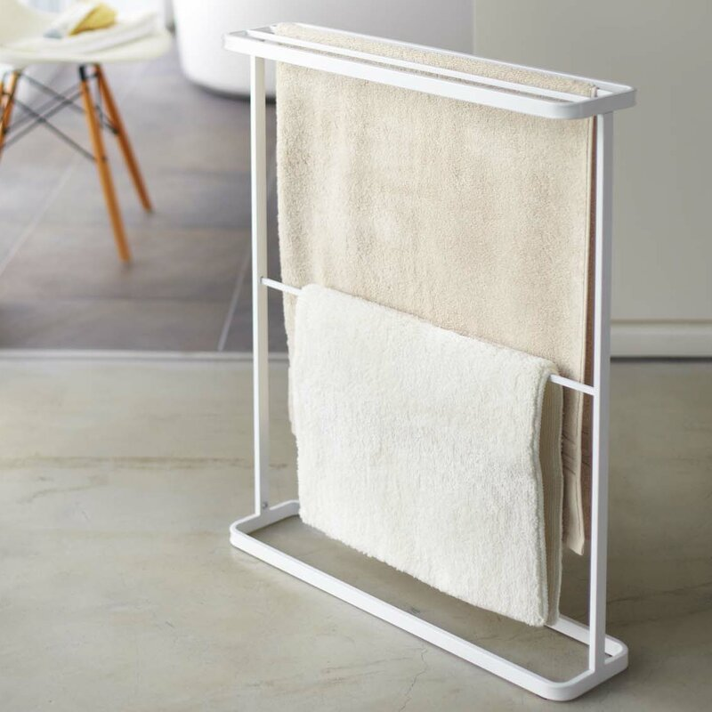 Rebrilliant Espinal Free Standing Towel Stand Reviews Wayfair
