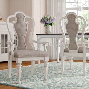 Tiphaine Solid Wood Arm Chair (Set of 2) ..