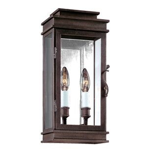 Darby Home Co Walworth 2-Light Outdoor Flush Mount
