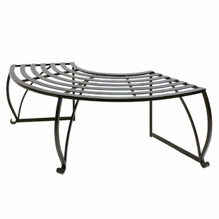 Beryl Backless Metal Tree Bench by Alcott Hill
