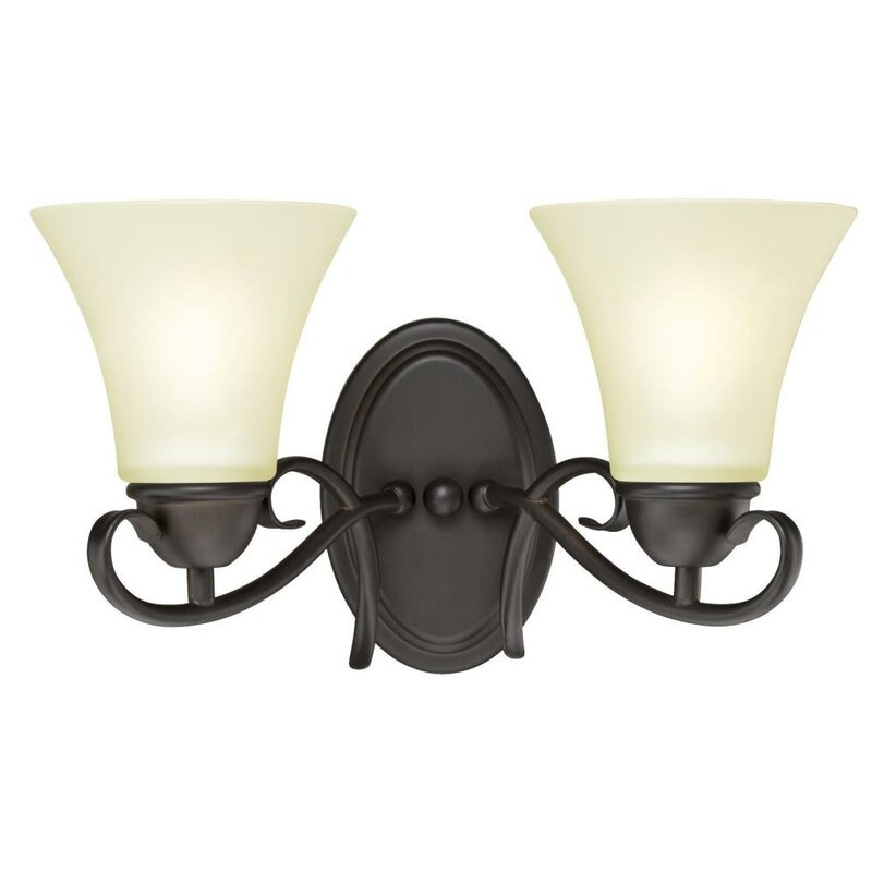 Charlton Home Metz 2 Light Dimmable Oil Rubbed Bronze Vanity Light Reviews Wayfair