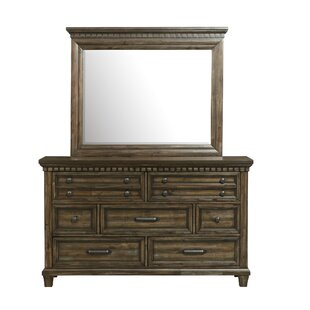 Dileo 7 Drawer Dresser with Mirror