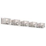 Altoona 5 - Light Dimmable LED Polished Chrome Vanity Light