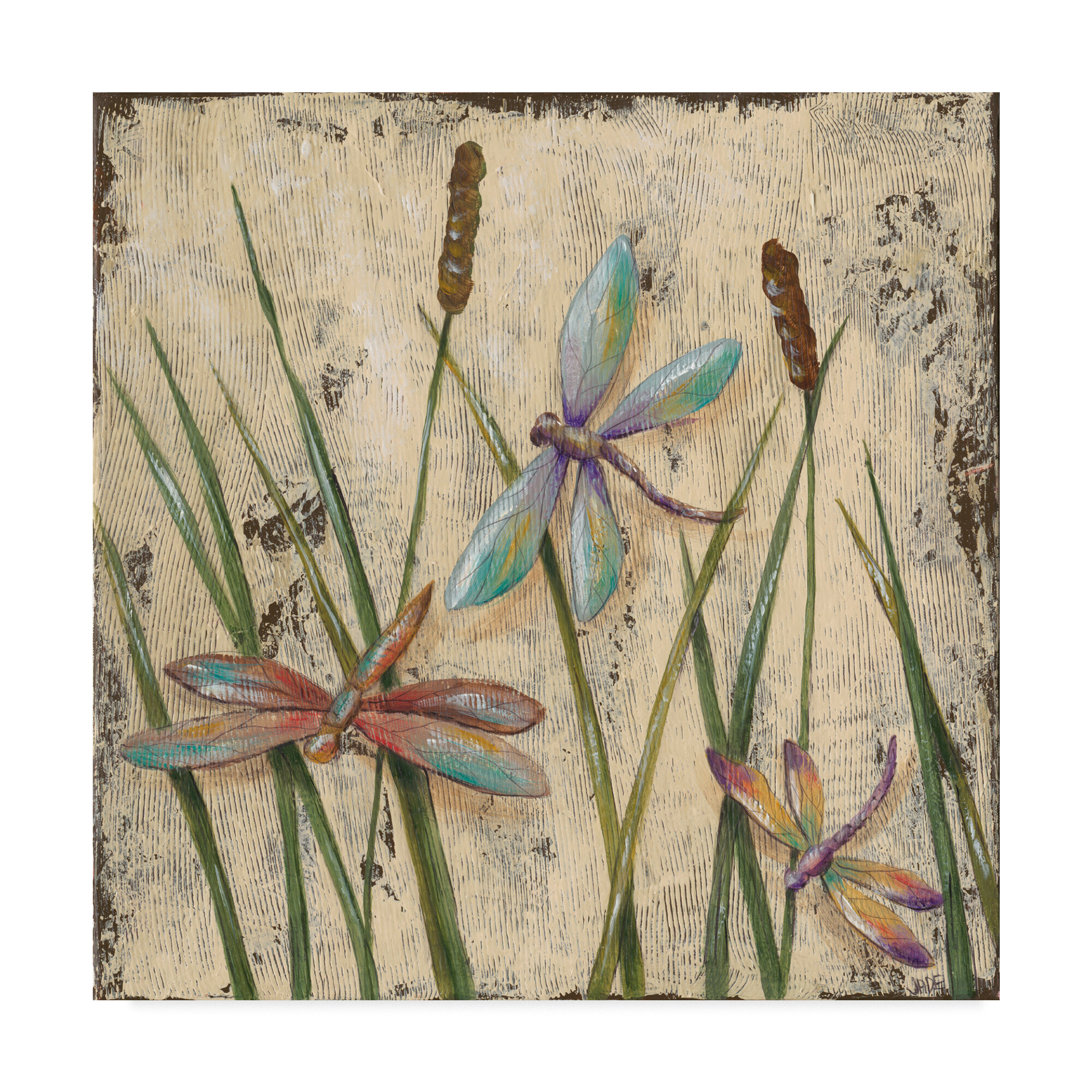 August Grove Dancing Dragonflies I Acrylic Painting Print On Wrapped Canvas Reviews Wayfair