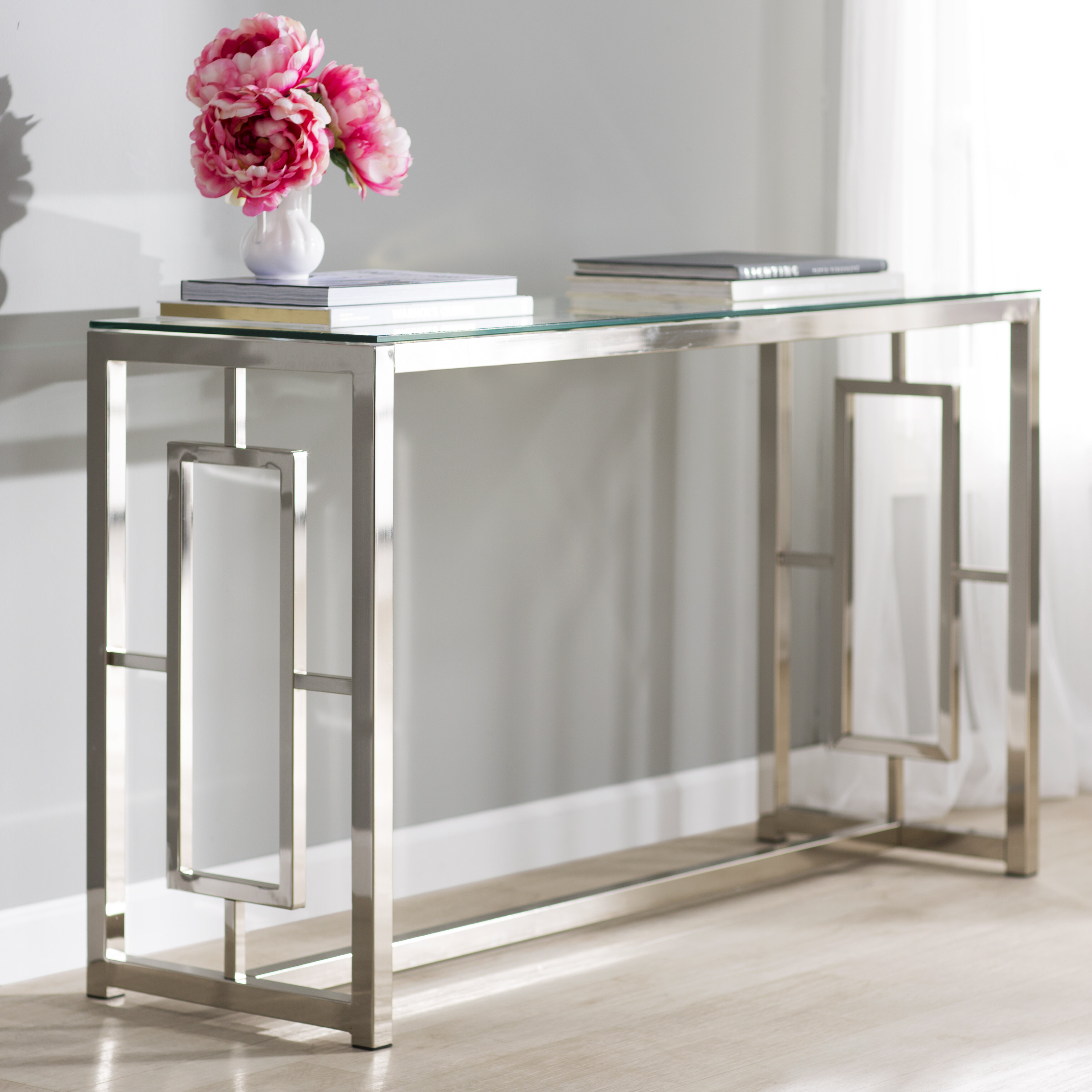 Picture of: Glass Console Tables You Ll Love In 2020 Wayfair