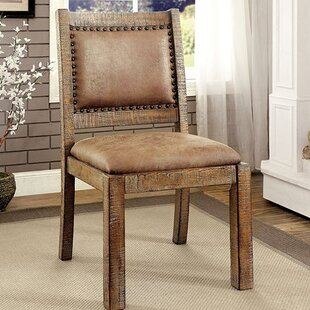 Dalrymple Industrial Solid Wood Dining Chair by Fleur De Lis Living
