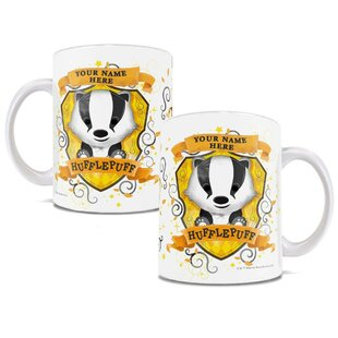 Harry Potter Personalized Hufflepuff Hogwarts Chibi Cute Geek Coffee Mug