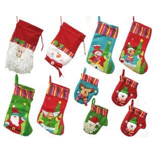 1b8c03fa769b4 10 Piece Winter Wonderland Christmas Stocking and Novelty Gift Bag Set