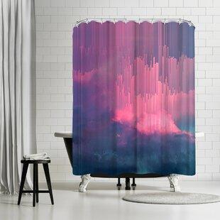 East Urban Home Emanuela Carratoni Stormy Glitches Shower Curtain