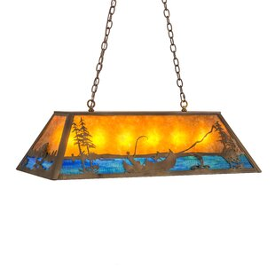 Trout and Fisherman 9-Light Pendant by Meyda Tiffany