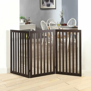 Huron Wooden Free Standing Pet Gate by Archie & Oscar