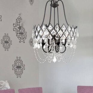 Compare Ravina 4-Light Crystal Chandelier By Designers Fountain