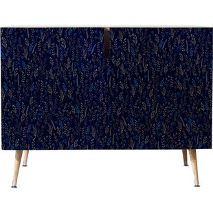 East Urban Home Blue Silk Accent Cabinet