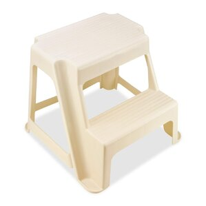 2step plastic step stool with 300 lb load capacity