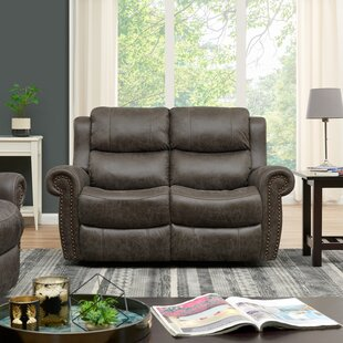2 Seat Rolled Arm Wall Hugger Home Theater Loveseat by Canora Grey