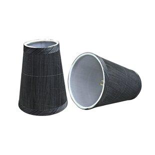 Modern Clip On 4'' Fabric Empire Lamp Shade (Set of 2)