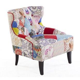 Edan High Back Wingback Chair by dCOR design