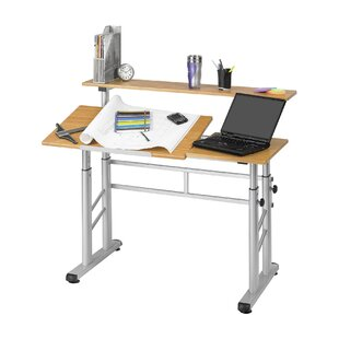 Safco Products Company Split Level Workstation Drafting Table with Hutch