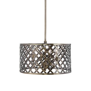 Breakwater Bay Arabella Latticework 4 -Light LED Drum Pendant