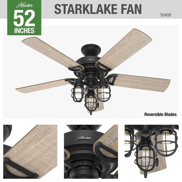 52 Quot Holmstrom 5 Blade Standard Ceiling Fan With Pull Chain And Light Kit Included