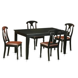 Dudley 5 Piece Dining Set by Wooden Importers 2019 Online