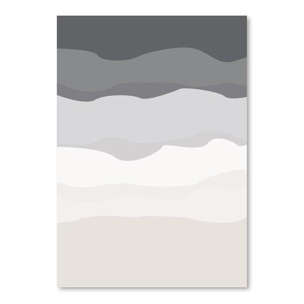 Ebern Designs Gray Beige Abstract Poster Gallery Graphic Art Wayfair
