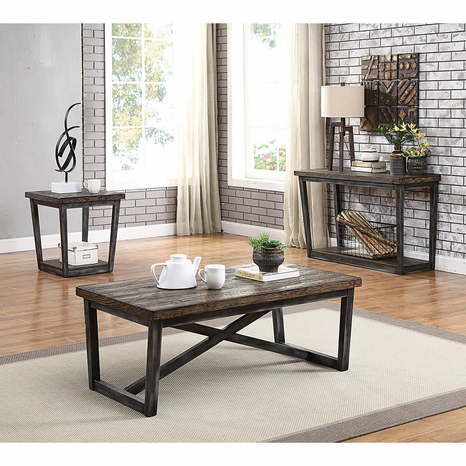 Gracie Oaks Clarkson 3 Piece Coffee Table Set Wayfair